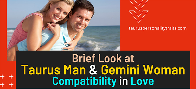 Taurus Man - Gemini Woman Love Compatibility